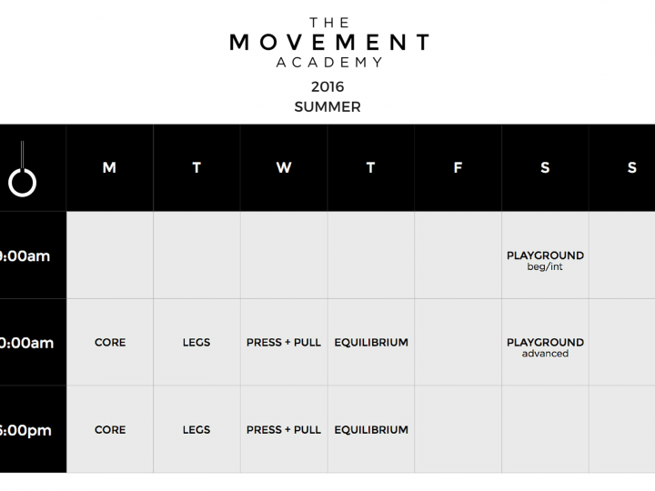 More Classes… More Movement